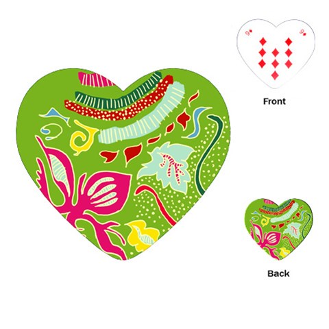 Green Organic Abstract Playing Cards (Heart)