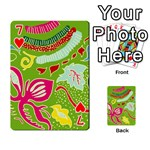 Green Organic Abstract Playing Cards 54 Designs  Front - Heart7