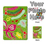 Green Organic Abstract Playing Cards 54 Designs  Front - DiamondQ
