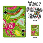 Green Organic Abstract Playing Cards 54 Designs  Front - Club9