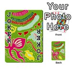Green Organic Abstract Playing Cards 54 Designs  Front - Joker1