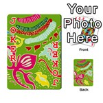 Green Organic Abstract Playing Cards 54 Designs  Front - Joker2