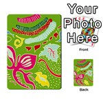 Green Organic Abstract Playing Cards 54 Designs  Back