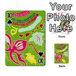 Green Organic Abstract Playing Cards 54 Designs  Front - Spade10