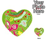 Green Organic Abstract Playing Cards 54 (Heart)  Front - HeartQ