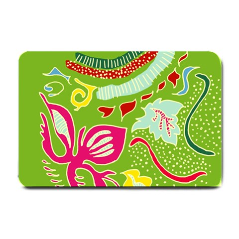 Green Organic Abstract Small Doormat