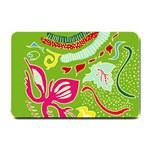Green Organic Abstract Small Doormat  24 x16 Door Mat - 1