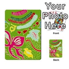 Green Organic Abstract Multi Purpose Cards (rectangle)