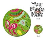 Green Organic Abstract Multi-purpose Cards (Round)  Back 38