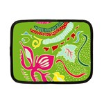 Green Organic Abstract Netbook Case (Small)  Front