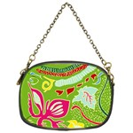 Green Organic Abstract Chain Purses (One Side)  Front