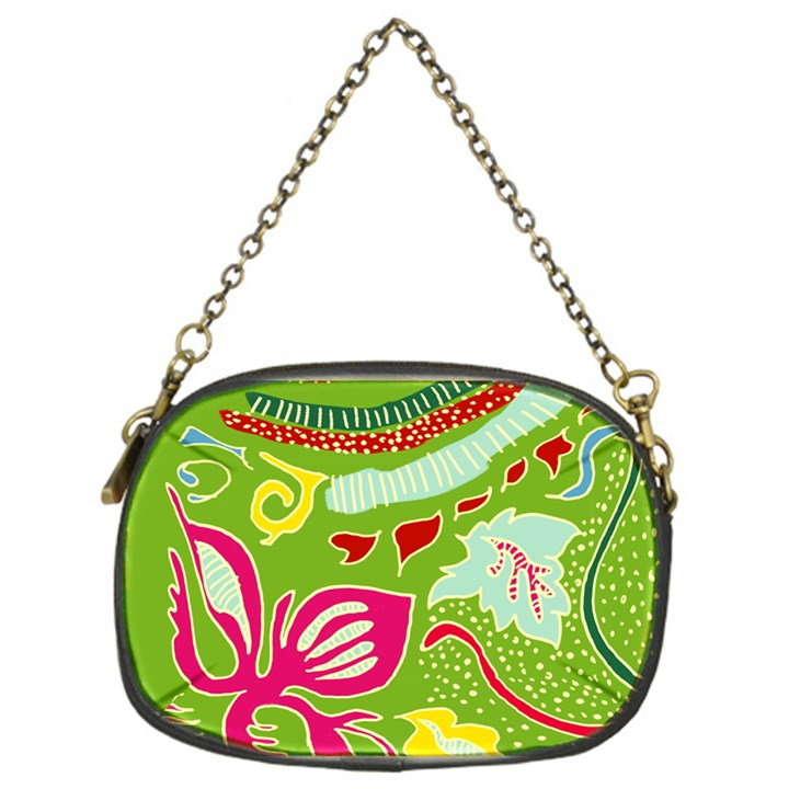Green Organic Abstract Chain Purses (One Side)