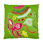 Green Organic Abstract Standard Cushion Case (Two Sides) Back
