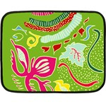 Green Organic Abstract Fleece Blanket (Mini) 35 x27 Blanket