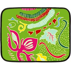 Green Organic Abstract Double Sided Fleece Blanket (mini)