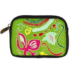 Green Organic Abstract Digital Camera Cases