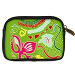 Green Organic Abstract Digital Camera Cases Back