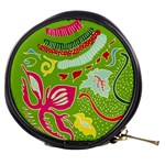 Green Organic Abstract Mini Makeup Bags Front