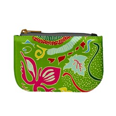 Green Organic Abstract Mini Coin Purses