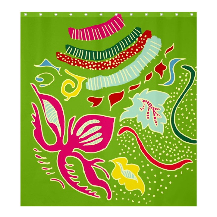 Green Organic Abstract Shower Curtain 66  x 72  (Large)
