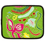 Green Organic Abstract Netbook Case (XXL)  Front