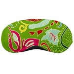Green Organic Abstract Sleeping Masks Front