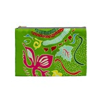 Green Organic Abstract Cosmetic Bag (Medium)  Front