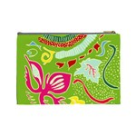 Green Organic Abstract Cosmetic Bag (Large)  Back