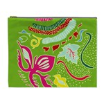 Green Organic Abstract Cosmetic Bag (XL) Front