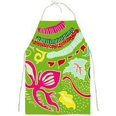 Green Organic Abstract Full Print Aprons