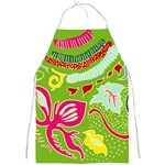 Green Organic Abstract Full Print Aprons Front