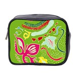 Green Organic Abstract Mini Toiletries Bag 2-Side Front