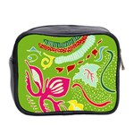 Green Organic Abstract Mini Toiletries Bag 2-Side Back