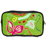 Green Organic Abstract Toiletries Bags Front