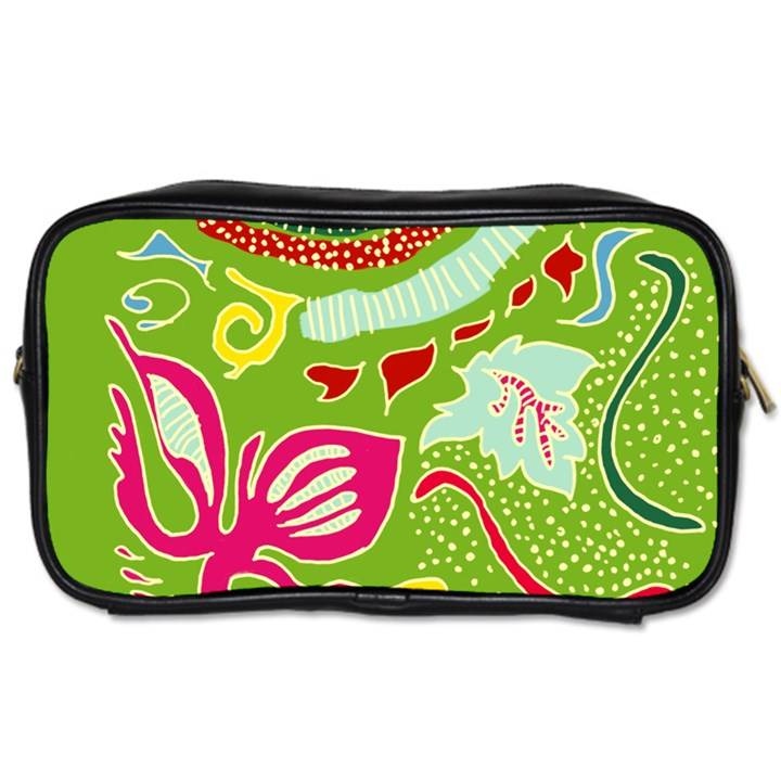 Green Organic Abstract Toiletries Bags