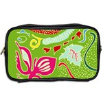 Green Organic Abstract Toiletries Bags 2-Side Back
