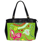 Green Organic Abstract Office Handbags (2 Sides)  Front