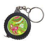Green Organic Abstract Measuring Tapes Front