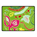 Green Organic Abstract Fleece Blanket (Small) 50 x40 Blanket Front