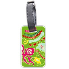 Green Organic Abstract Luggage Tags (one Side)