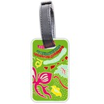 Green Organic Abstract Luggage Tags (One Side)  Front