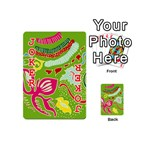 Green Organic Abstract Playing Cards 54 (Mini)  Front - Joker2