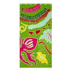 Green Organic Abstract Shower Curtain 36  x 72  (Stall)