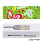 Green Organic Abstract Memory Card Reader (Stick)  Front