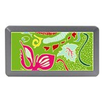 Green Organic Abstract Memory Card Reader (Mini) Front