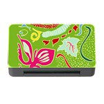Green Organic Abstract Memory Card Reader with CF Front