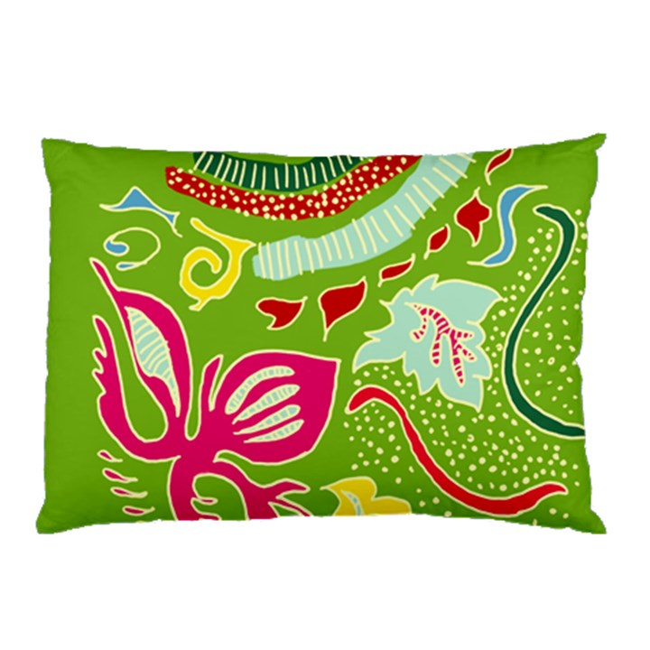 Green Organic Abstract Pillow Case (Two Sides)
