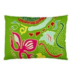Green Organic Abstract Pillow Case (Two Sides) Back
