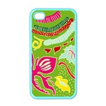 Green Organic Abstract Apple iPhone 4 Case (Color) Front