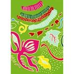 Green Organic Abstract Ribbon 3D Greeting Card (7x5) Inside